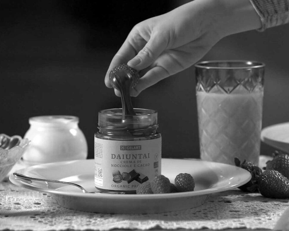 BIOGELART  </br>Crema di nocciole e cacao